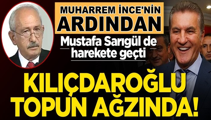 CHP kaynıyor! Kılıçdaroğlu zorda Mustafa Sarıgül de yeni parti kuruyor