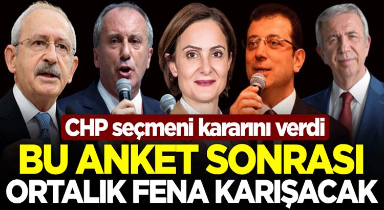 CHP seçmeni Kılıçdaroğlu'nu istemiyor bakın anketten kim çıktı