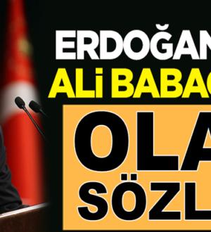 Cumhurbaşkanı Erdoğan'dan Ali Babacan'a olay sözler!