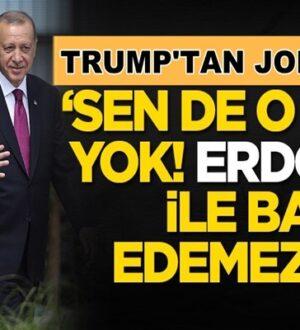 Donald Trump rakibi Joe Biden'e Başkan Erdoğan'la yüklendi
