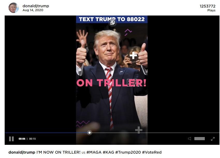 Çin uygulaması TikTok'u hedef alan ABD Başkanı Donald Trump, rakip uygulama Triller'da hesap açtı.  'donaldjtrump' kullanıcı adıyla açılan hesapta paylaşın bir videoda 1 milyon 260 bin civarında izleyiciye ulaştı.   Öte yandan ABD'de Trump öncülüğünde TikTok'a karşı açılan savaşın ardından rakibi Triller uygulaması, kısa sürede 700 bini aşkın kişi tarafından indirildi.     Geçtiğimiz haftalarda Donald Trump, TikTok'un sahibi ByteDance firmasına ABD'deki TikTok hisselerini satması için 3 ay gibi bir zaman vermişti.  TikTok'un kişisel verileri izinsiz bir şekilde Çin hükümetiyle paylaştığı iddia edilmişti.