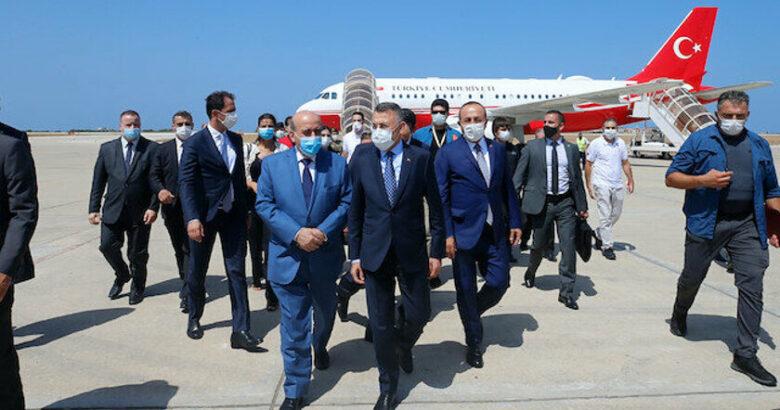 Fuat Oktay ve Çavuşoğlu Lübnan'dan Türkiye döndü