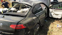 Giresun'a giden Bakan Murat Kurum'un korumaları kaza yaptı