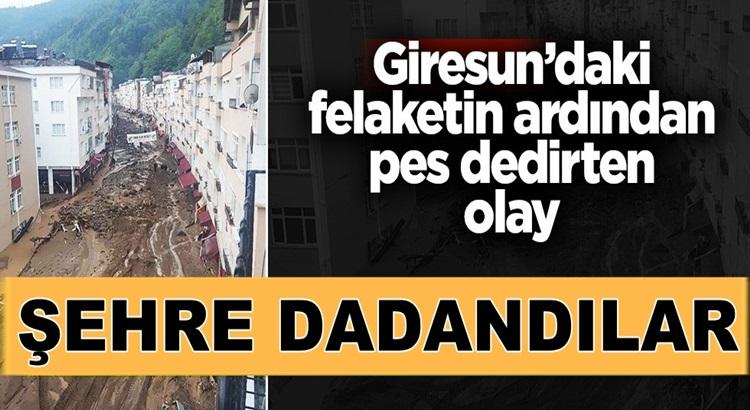 Giresun'daki sel felaketinin ardından kente yağmacılar dadandı