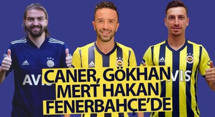 Mert Hakan Yandaş, Caner Erkin ve Gökhan Gönül Fenerbahçe'de