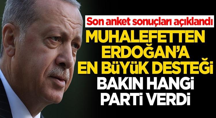 Son Ankete göre Erdoğan'a en büyük desteği bakın hangi parti verdi