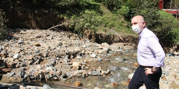 Ulaştırma Bakanı Karaismailoğlu, Giresun'da incelemeler yaptı