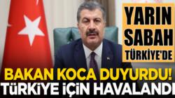 Fahrettin Koca: Çin'den gelecek aşı yarın sabah Türkiye'de olacak