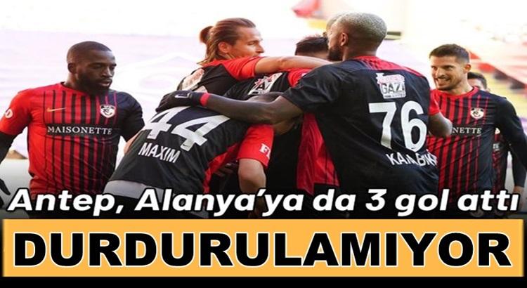 Gaziantep FK Süper Lig'de Aytemiz  Alanyaspor'u farklı yendi