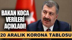 Koronavirüs 20 aralık Türkiye verilerini bakan Fahrettin Koca açıkladı