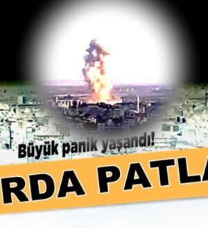 Türkiye Suriye sınırında  Resulayn'da patlama meydana geldi