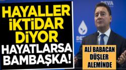 Ali Babacan'ı rüyasından seçim anketleri uyandırdı