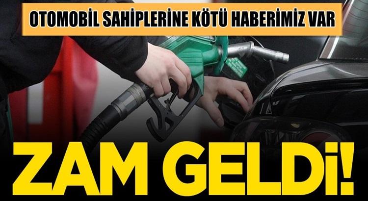 Araç sahipleri dikkat benzin litre fiyatına zam geldi