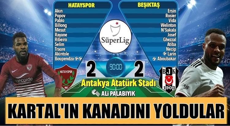 Beşiktaş Atakaş Hatayspor deplasmanında 2 puan bıraktı