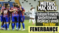 Beşiktaş Vodofone Arena'da Trabzonspor'a mağlup oldu