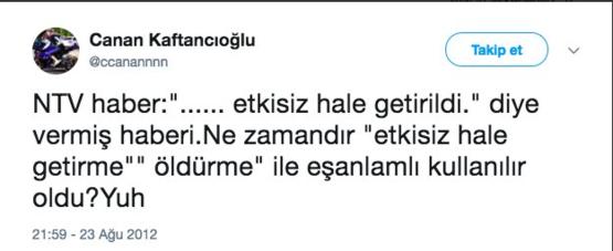 Yüzüne vurulan gerçekleri hazmedemeyen CHP İstanbul İl Başkanı Canan Kaftancıoğlu ise bu kez hakaret diline başvurdu. Paylaştığı mesajla 'ergen liseli' beyniyle alakasız bir ilişkilendirme ile şu ifadeleri kullandı: