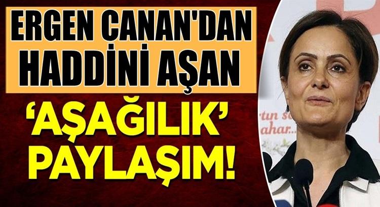 CHP'li Canan Kaftancıoğlu'ndan haddini aşan 'aşağılık' paylaşım
