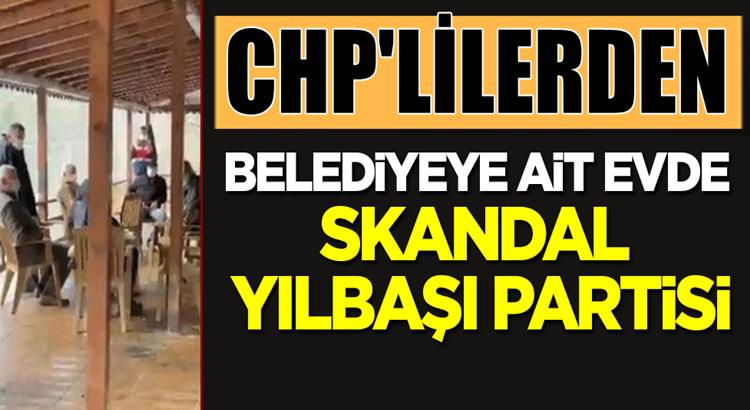 CHP'liler Rize'nin Fındıklı ilçesinde yılbaşı partisi düzenledi