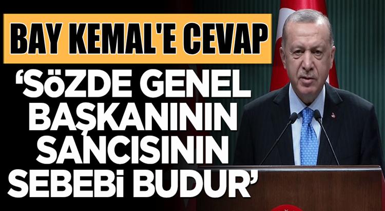 """Cumhurbaşkanı Erdoğan """"Sözde genel başkanının sancısı budur"""""""