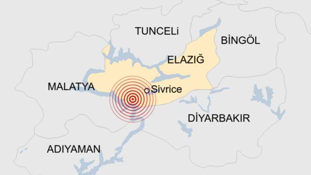 Elazığ'da Sivrice'de korkutan deprem meydana geldi
