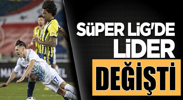 Fenerbahçe Kadıköy'de Rizespor'u yenerek Liderlik koltuğuna oturdu