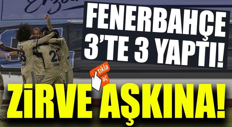 Fenerbahçe, Süper lig'de BB Erzurumspor'u farklı yenerek zirveye uçtu