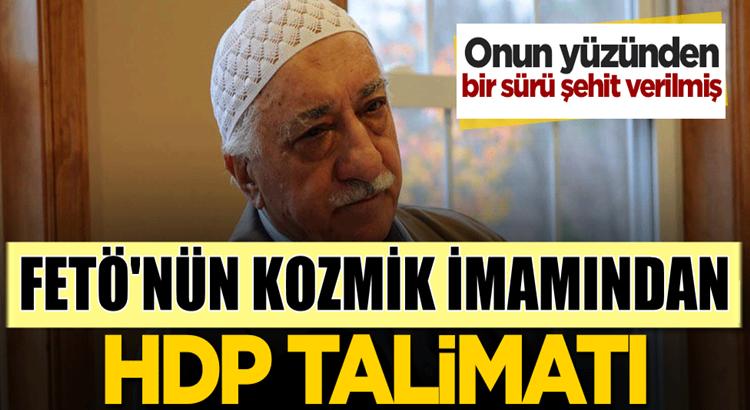 FETÖ'nün kozmik imamı Yasin Ugan HDP talimatı vermiş