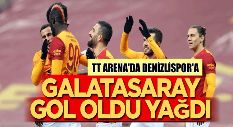 Galatasaray Denizlispor'a Türk Telekom Arena'da gol yağdırdı
