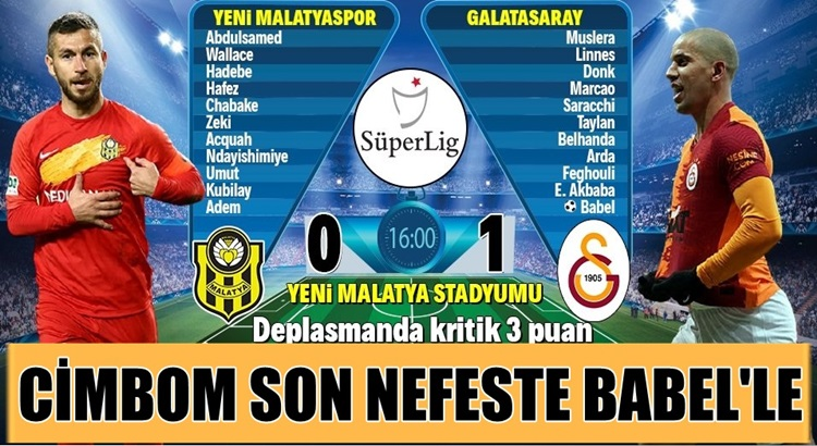 Galatasaray, Malatyaspor'u son dakikalarda attığı golle yendi