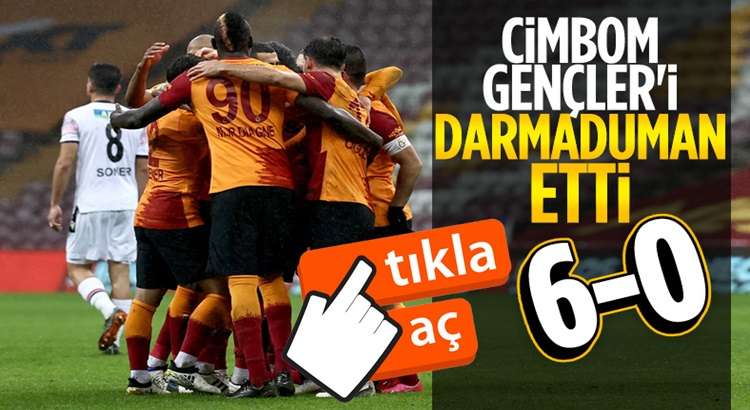 Galatasaray'dan Gençlerbirliği ağlarına yarım düzüne gol