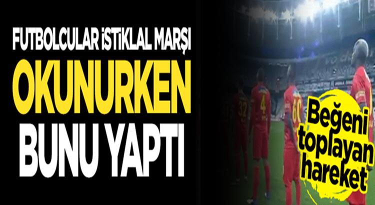 Göztepe'nin Hocası Ünal Karaman Futbolcularına İstiklal Marşı Okuttu