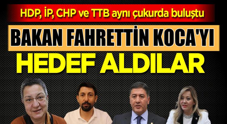 HDP, İP, CHP ve TTB aynı fikirde birleşti: Hedef Fahrettin Koca