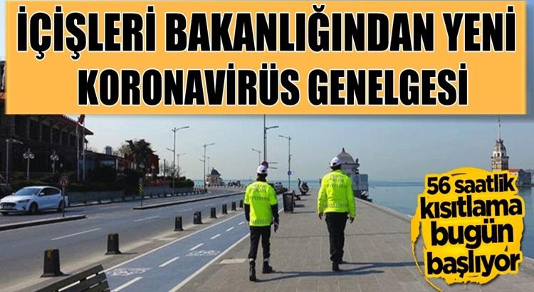 İçişleri Bakanlığı'ı yeni koronavirüs genelgesi yayımladı