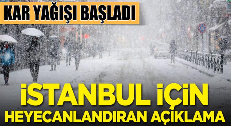 İstanbul'da uzun zamandır beklenen kar yağışı başladı