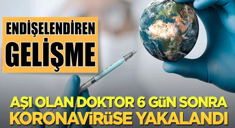 İtalya'da Aşı olan doktor 6 gün sonra koronavirüse yakalandı!