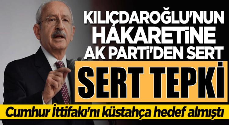 Kemal Kılıçdaroğlu'nun Halk Tv'den hakaretine AK Parti'den sert tepki