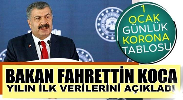 Koronavirüs 1 Ocak 2021 Türkiye verilerini Bakan Koca açıkladı