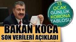 Koronavirüs 13 ocak tablosunu Sağlık Bakanı Fahrettin Koca duyurdu