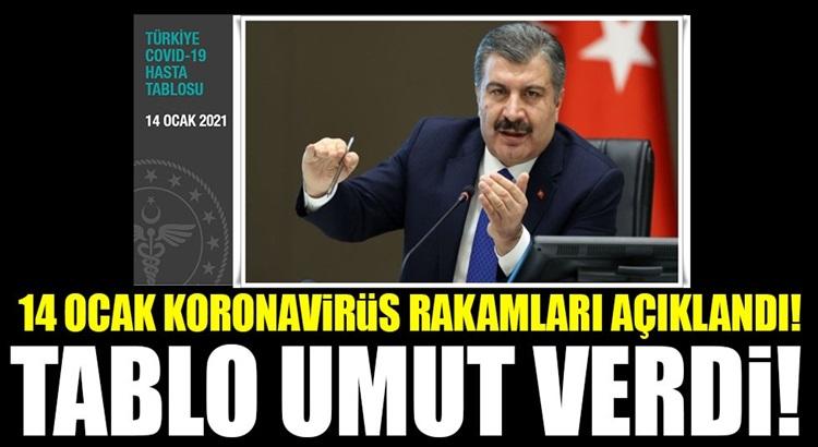 Koronavirüs 14 ocak verilerini sağlık Bakanı Fahrettin Koca açıkladı