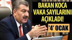 Koronavirüs Türkiye 4 Ocak tablosunu sağlık bakanı Fahrattin Koca duyurdu