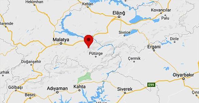 Malatya'nın  Pütürge ilçesinde deprem meydana geldi