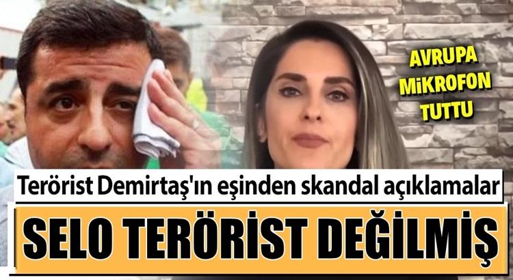 PKK Yandaşı Terörist Selahattin Demirtaş'ın eşinden skandal sözler