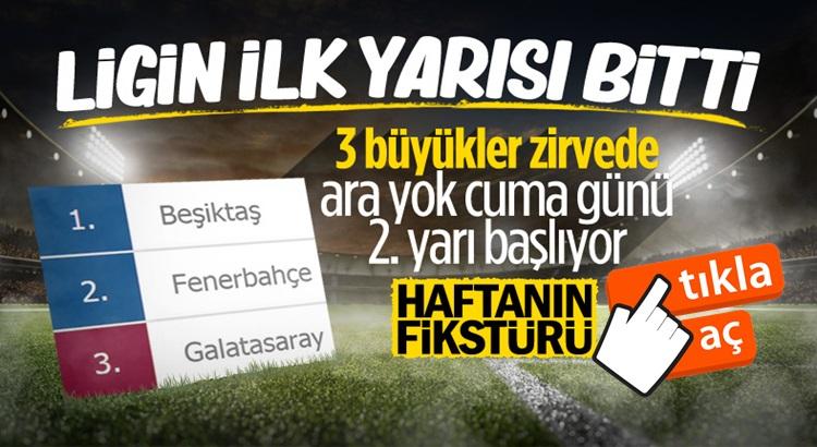 Süper lig'de puan durumu ve haftanın programı açıklandı