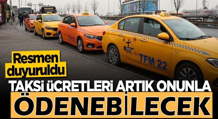 Taksi ücretleri istanbul'da artık istanbulkart ile ödenebilecek