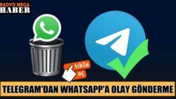 Telegram'dan WhatsApp'a tabutlu olay gönderme