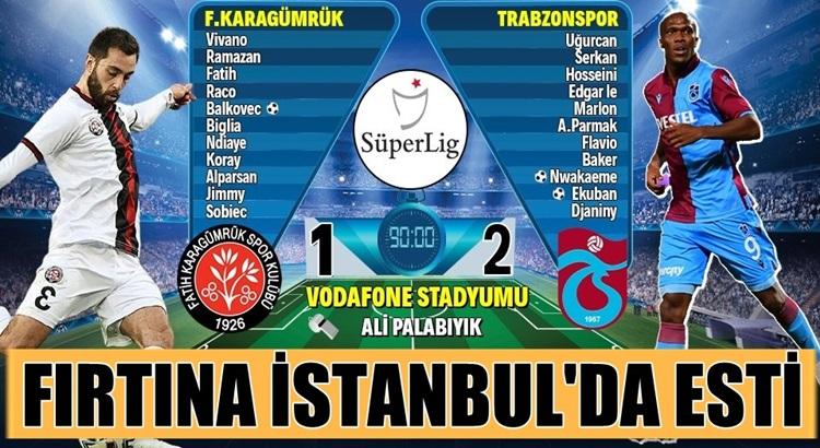 Trabzonspor, İstanbul Deplasmanda  Fatih Karagümrük'ü rahat geçti