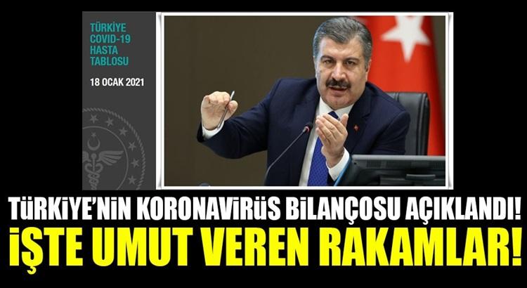 Türkiye Koronavirüs 18 ocak tablosunu Bakan Fahrettin Koca duyurdu