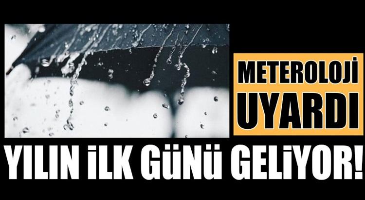Türkiye'de 2021'in ilk gününde sağanak yağmur bekleniyor
