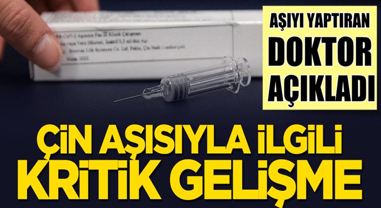 Türkiye'ye Çin'den gelen koronavirüs aşısıyla ilgili önemli gelişme!