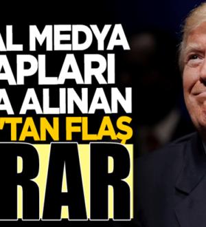 Twitter tarafından hesabı askıya alınan Donald Trump'tan yeni karar